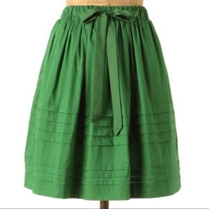 NWT Odille Anthropologie A-Line Skirt Green XS